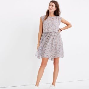 Madewell Tie-back Mini Dress in Shadow Petal